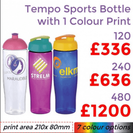 Tempo Sports Bottle With Single Colour Print