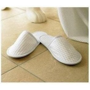 TowelCity Waffle mule slippers