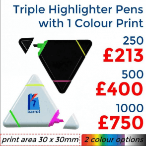 Triple Highlighter With Single Colour Print