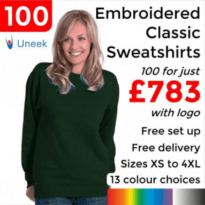 100 x Embroidered Classic Sweatshirt £783