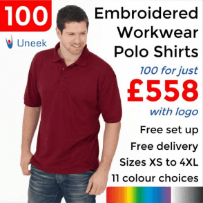 100 x Embroidered Essential Poloshirt £558
