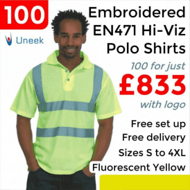 100 x Embroidered Hi-Viz Polo Shirt £833