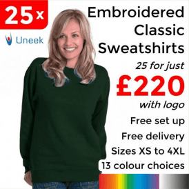 25 x Embroidered Classic Sweatshirt £220