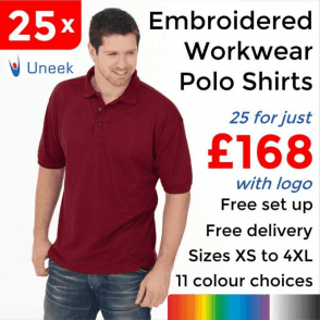 25 x Embroidered Essential Poloshirt £168