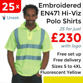 25 x Embroidered Hi-Viz Polo Shirt £230
