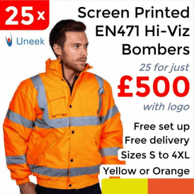 25 x Printed High Visibility Bomber Jacket £500