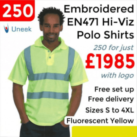 250 x Embroidered Hi-Viz Polo Shirt £1985