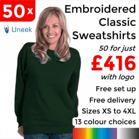 50 x Embroidered Classic Sweatshirt £416
