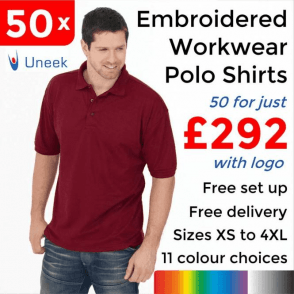 50 x Embroidered Essential Poloshirt £292