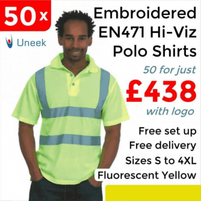 50 x Embroidered Hi-Viz Polo Shirt £438