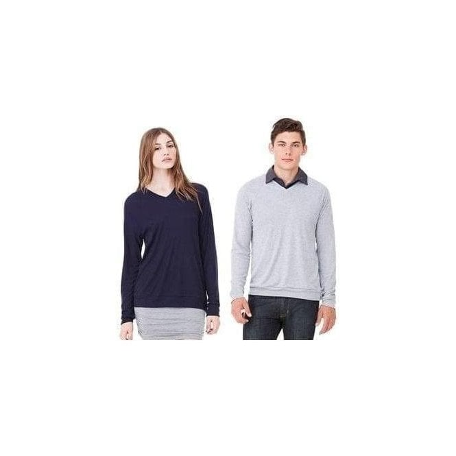 Bella+Canvas Unisex v-neck lightweight sweater