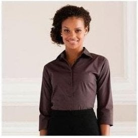 Women's 3/4 sleeve Easycare fitted shirt