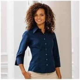 Women's 3/4 sleeve Tencel fitted shirt