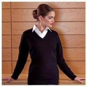 Women's Lambswool v-neck jumper