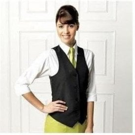Women's lined polyester waistcoat
