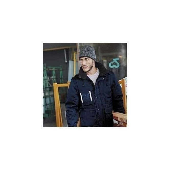 Kariban Workwear parka with detachable sleeves