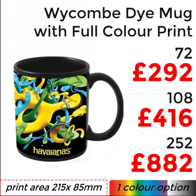 Wycombe Dye Sublimation Mug With Full Colour Print