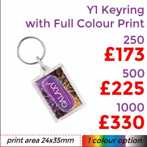 Y1 Keyring With Full Colour Print