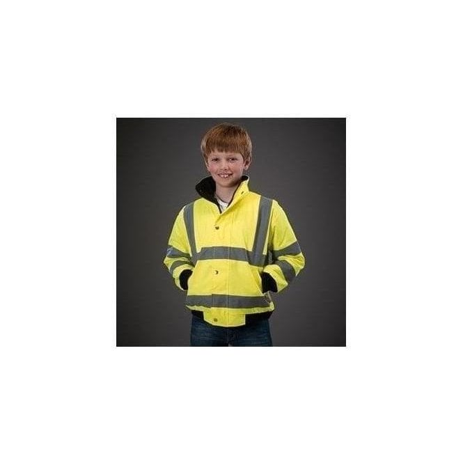Yoko High visibility kids bomber jacket (HVP211CH)