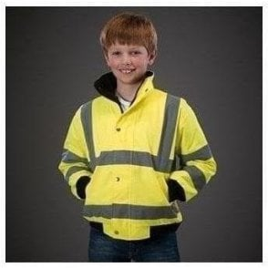 High visibility kids bomber jacket (HVP211CH)